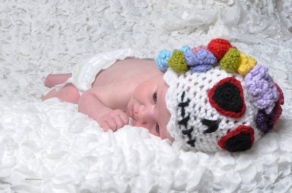 Elegant Sugar Skull Crochet Baby Hat Crochet Sugar Skull Of Incredible 47 Pictures Crochet Sugar Skull