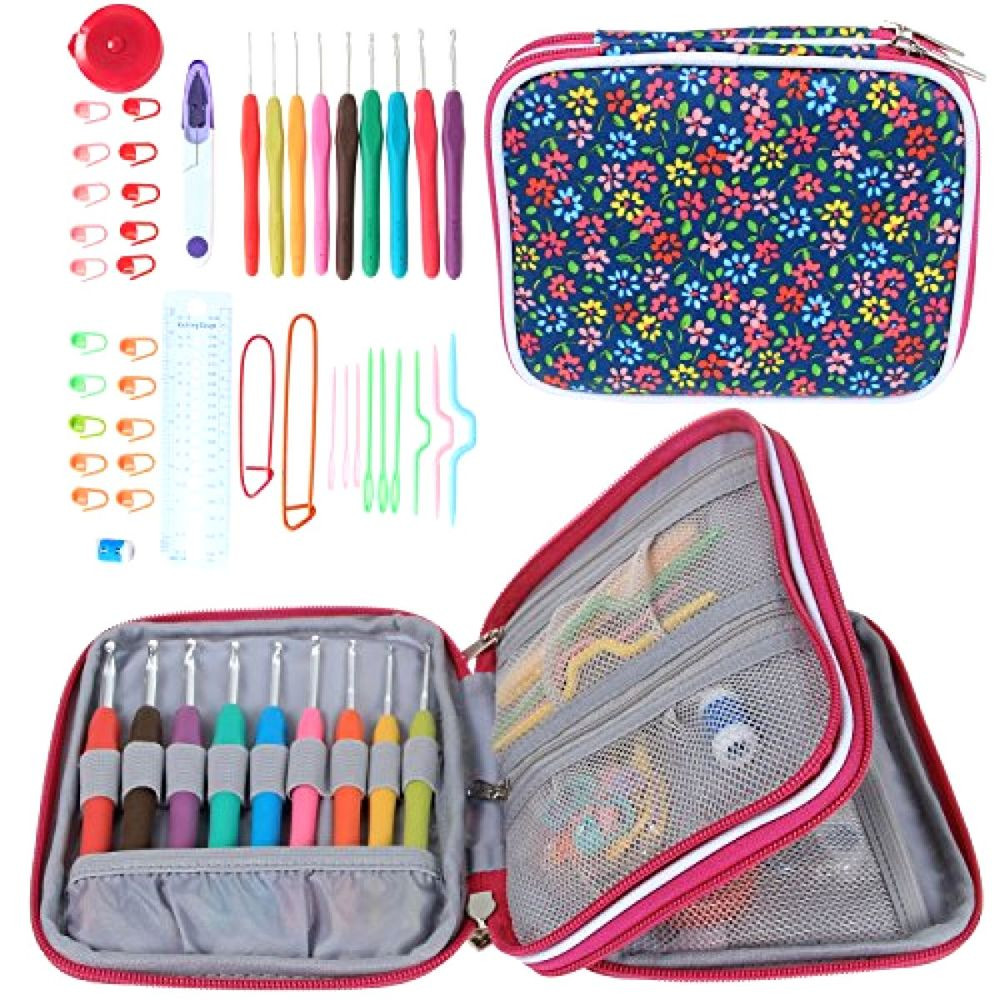Elegant Teamoy Ergonomic Crochet Hooks Set Knitting Needle Kit Crochet Hook Sets with Case Of Amazing 49 Images Crochet Hook Sets with Case