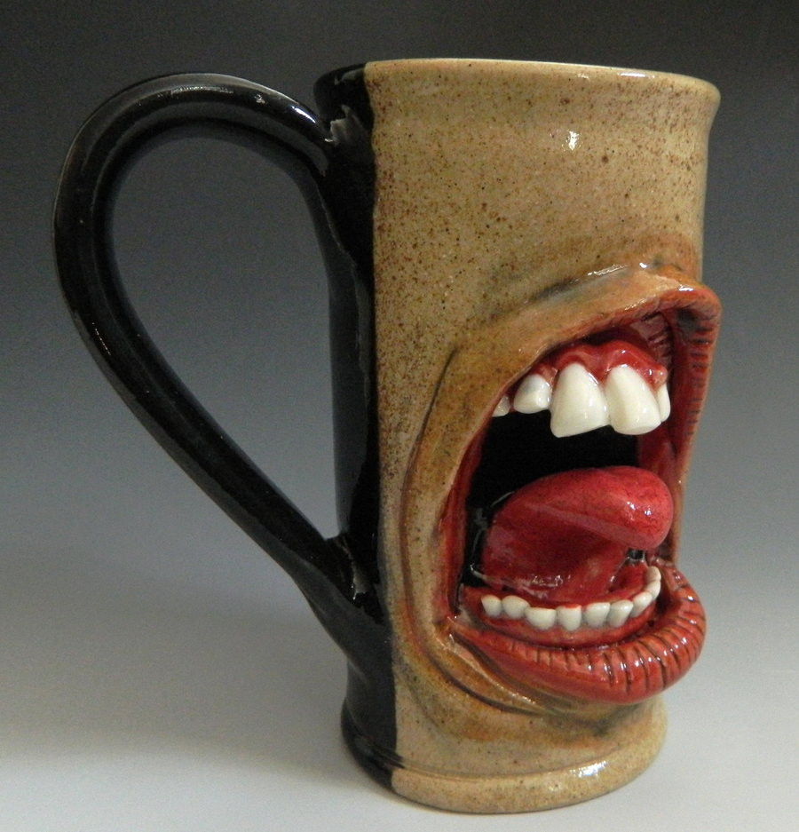Elegant Teeth and tongue Mug for Sale by thebigduluth On Deviantart Pottery Clay for Sale Of Unique Traditional Ceramic Jugs Decorative towel Showcase Pottery Clay for Sale
