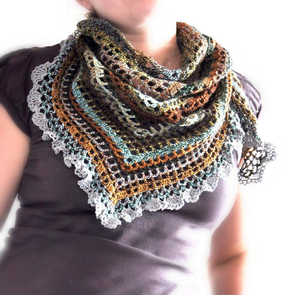 Elegant Triangular Crochet Shawl Made to order On Luulla Crochet Triangle Scarf Of New 50 Images Crochet Triangle Scarf