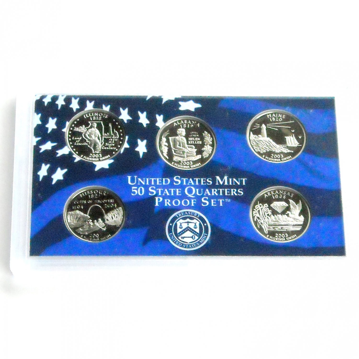 Elegant United States Mint 50 State Quarters Proof Set 2003 Us State Quarter Collection Of Charming 49 Ideas Us State Quarter Collection