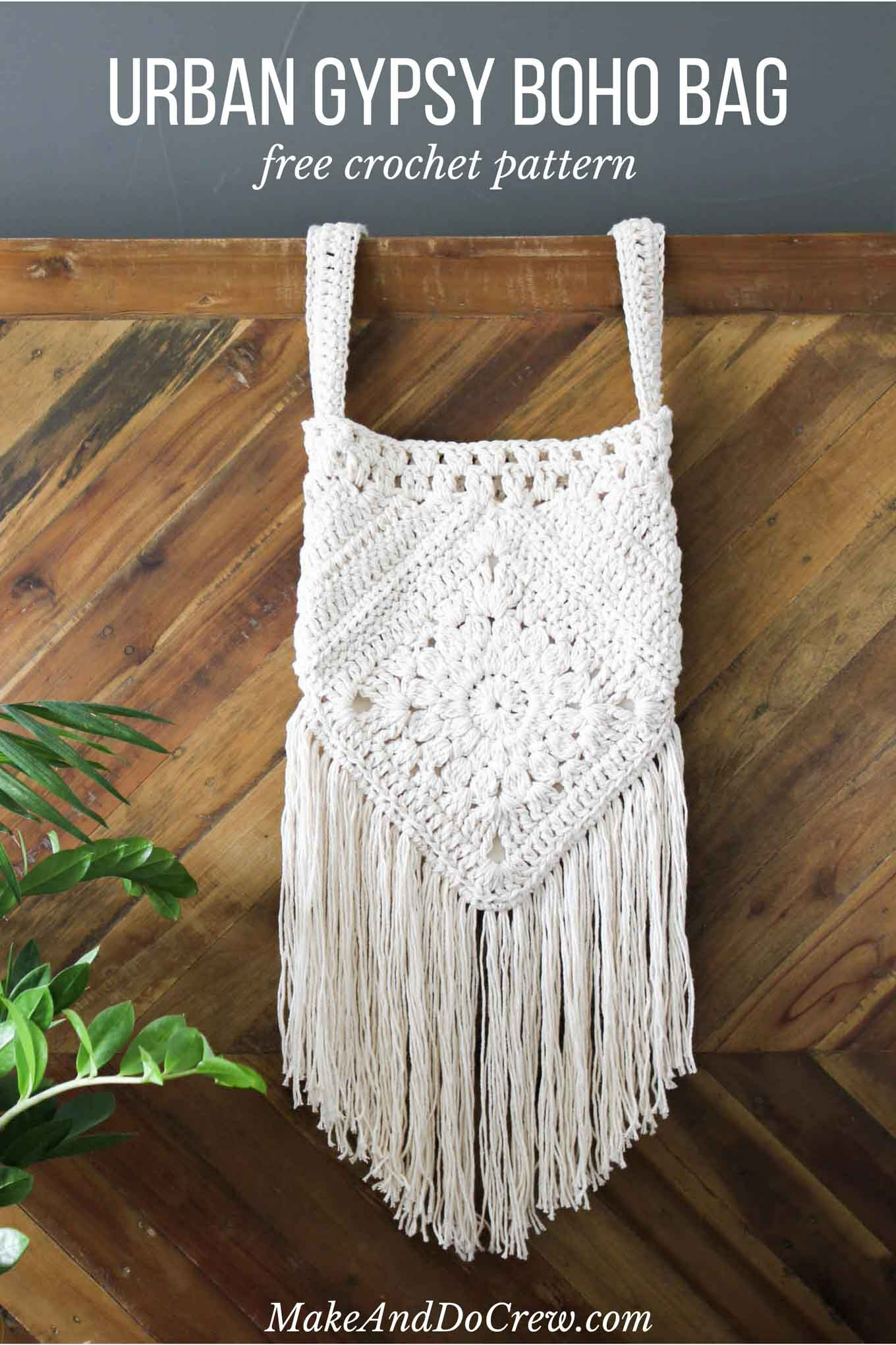 Elegant Urban Gypsy Boho Bag Free Crochet Pattern Make & Do Crew Boho Crochet Patterns Free Of Delightful 45 Photos Boho Crochet Patterns Free