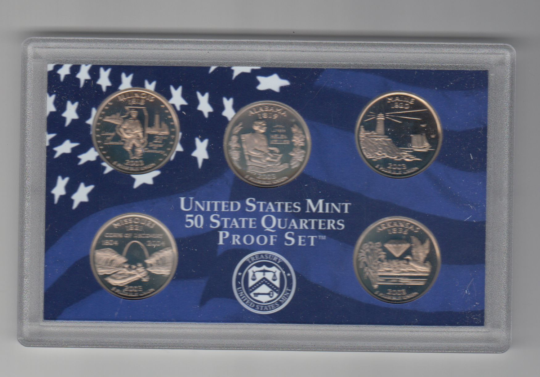 Elegant Value Of 5 Coins 50 State Quarters Proof Set In Box with State Quarter Set Value Of New 2007 P & D United States Mint Uncirculated Coin Set State Quarter Set Value