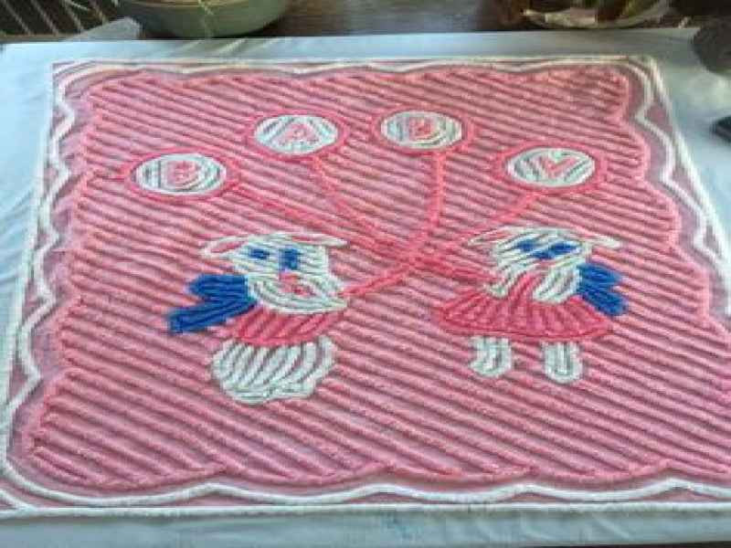 Victorian Silk Baby Blanket Quilt for Doll From Vintage