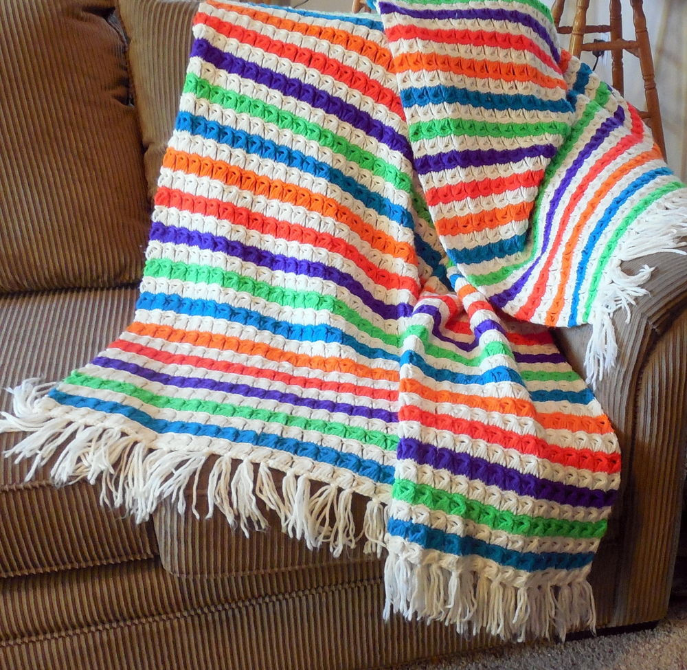 Elegant Vintage Handmade Crochet Afghan Throw Blanket Multi Color Handmade Crochet Of Delightful 40 Pics Handmade Crochet