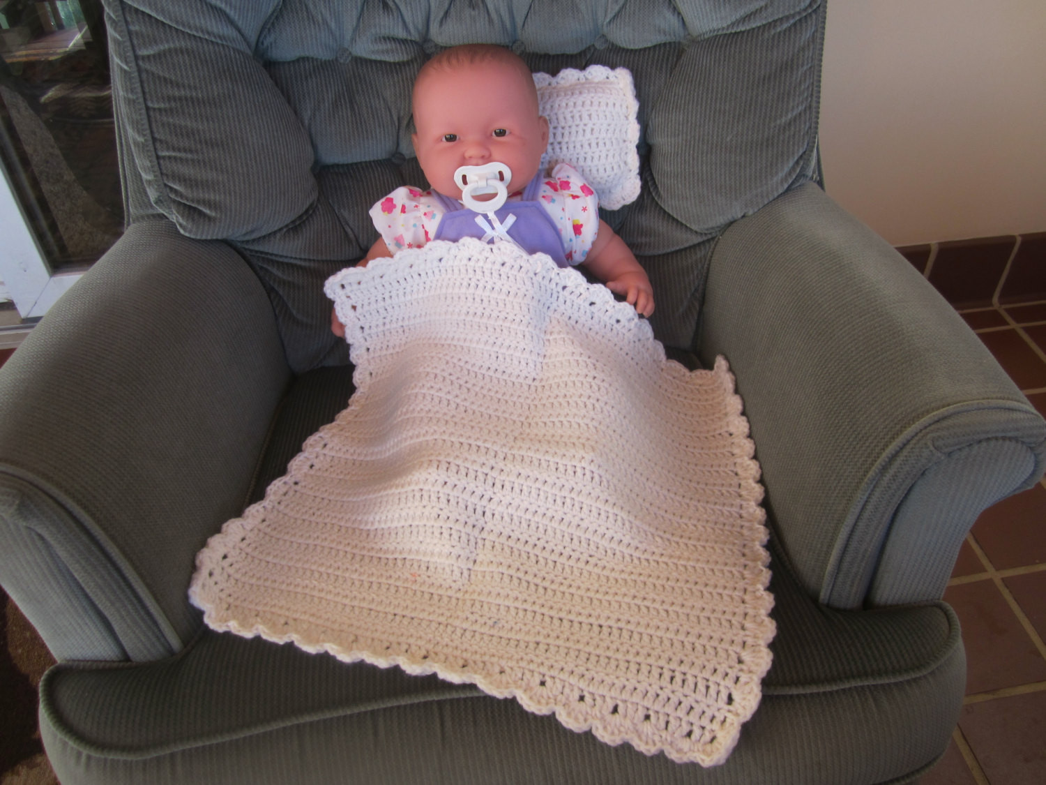 Elegant White Crocheted Baby Doll Blanket Quilt and Pillow Set Baby Doll Blankets Of Adorable 37 Images Baby Doll Blankets