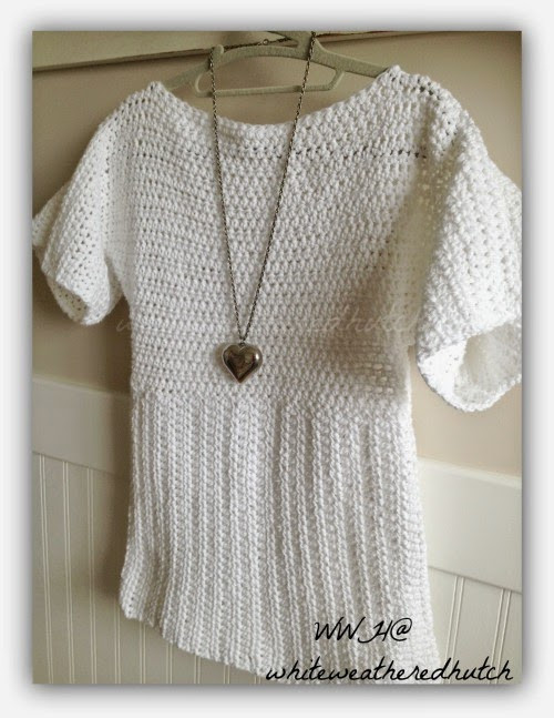 Elegant White Weathered Hutch Crocheted Sweater White Crochet Sweater Of Wonderful 44 Ideas White Crochet Sweater
