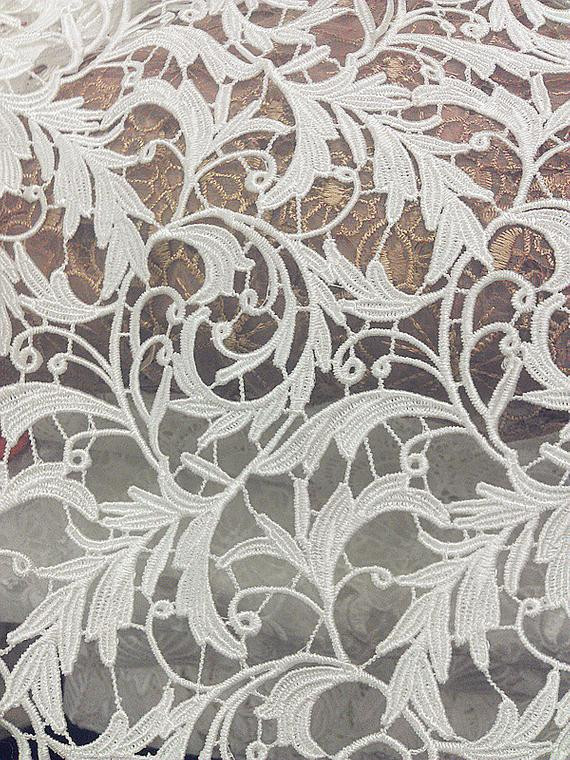 Elegant White Wedding Fabric Crochet Hollow Leaf Lace Fabric Venice Crochet Lace Fabric Of Attractive 45 Images Crochet Lace Fabric