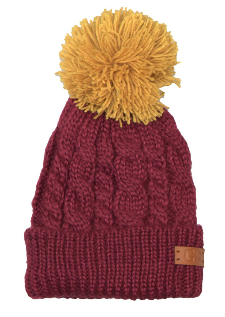 Elegant wholesale Wine Chunky Knit Bobble Beanie and More Hats at Chunky Knit Hat Of Delightful 46 Pictures Chunky Knit Hat