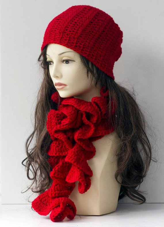 Elegant Woman S Hat Scarf Set Crochet Slouchy Beanie and by Beadedwire Crochet Sets Of Lovely 43 Images Crochet Sets