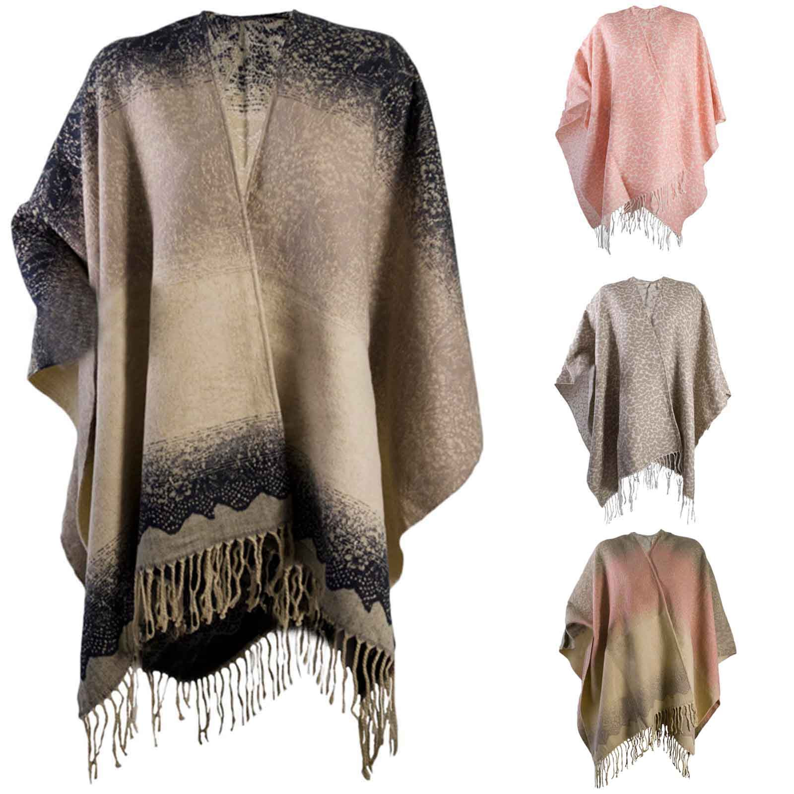 Elegant Womens Warm Winter Shawl Poncho Wrap Knitted Cape Scarf Knitted Shawl Wrap Of Superb 49 Images Knitted Shawl Wrap