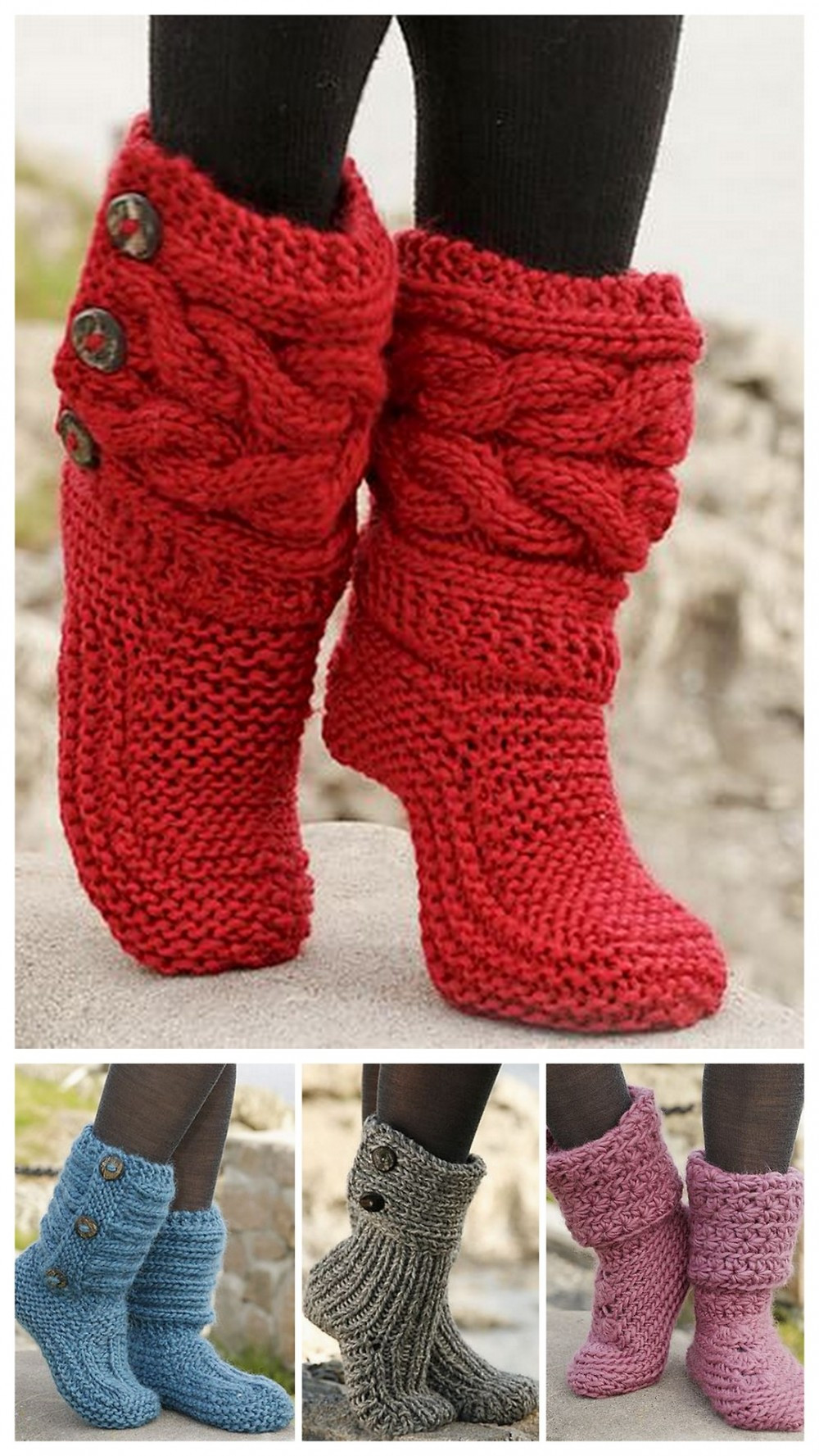 Elegant Yarn Archives Diy Christmas Crafts Knitted Slipper Boots Of Superb 41 Pics Knitted Slipper Boots