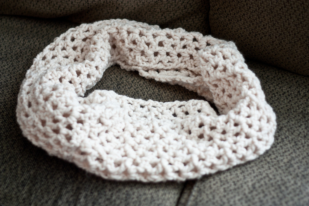 youtube crochet scarf with chunky yarn