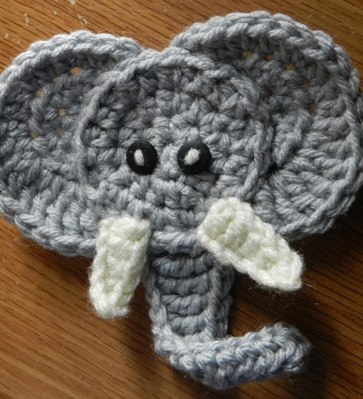 Elephant Crochet Pattern Awesome Hooking Housewives Elephant Applique Free Pattern Of Incredible 48 Ideas Elephant Crochet Pattern