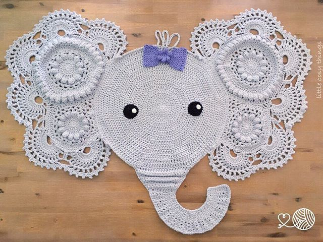 Elephant Crochet Pattern Lovely Victoria the Elephant Crochet Rug Made by Little Cosy Of Incredible 48 Ideas Elephant Crochet Pattern