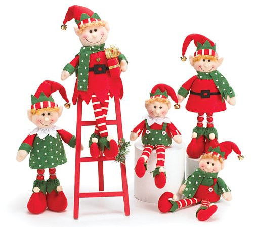 Elf Christmas Decorations Beautiful Augustusreveredexalted Look 5 Piece Plush Christmas Elves Of Brilliant 42 Images Elf Christmas Decorations