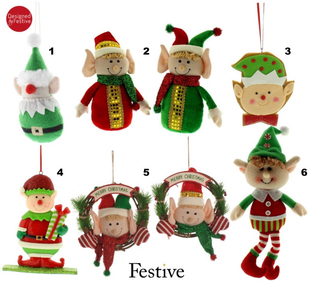 elf christmas decorations uk