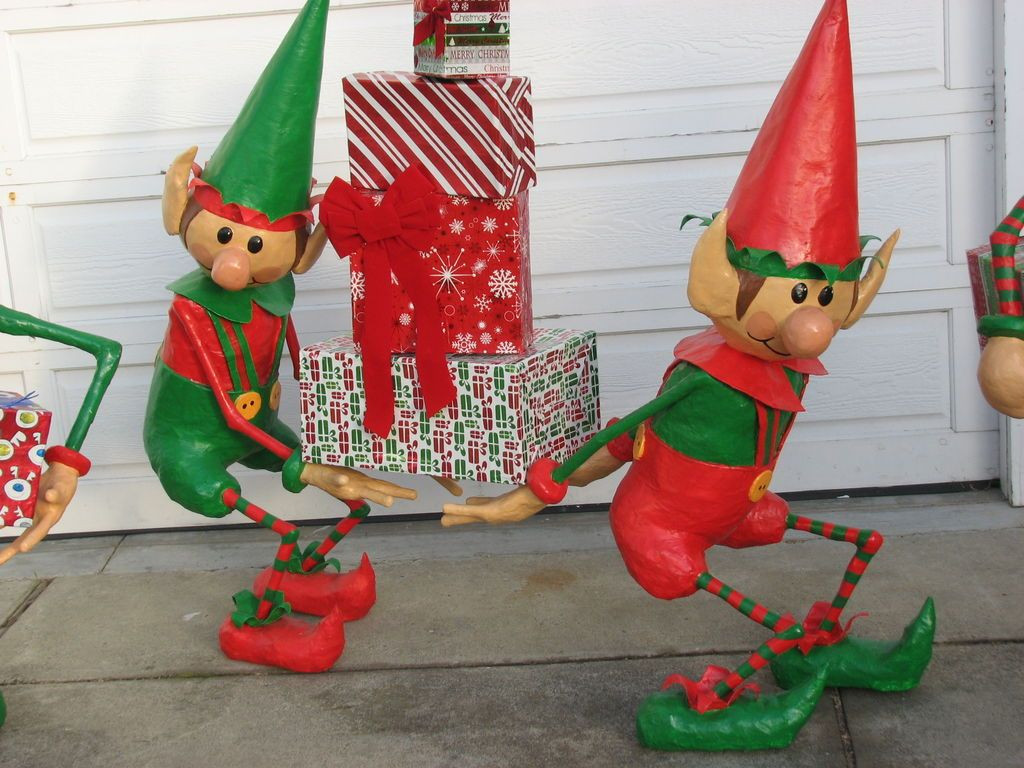 Elf Christmas Decorations Best Of Santa S Elves Yard Display Of Brilliant 42 Images Elf Christmas Decorations