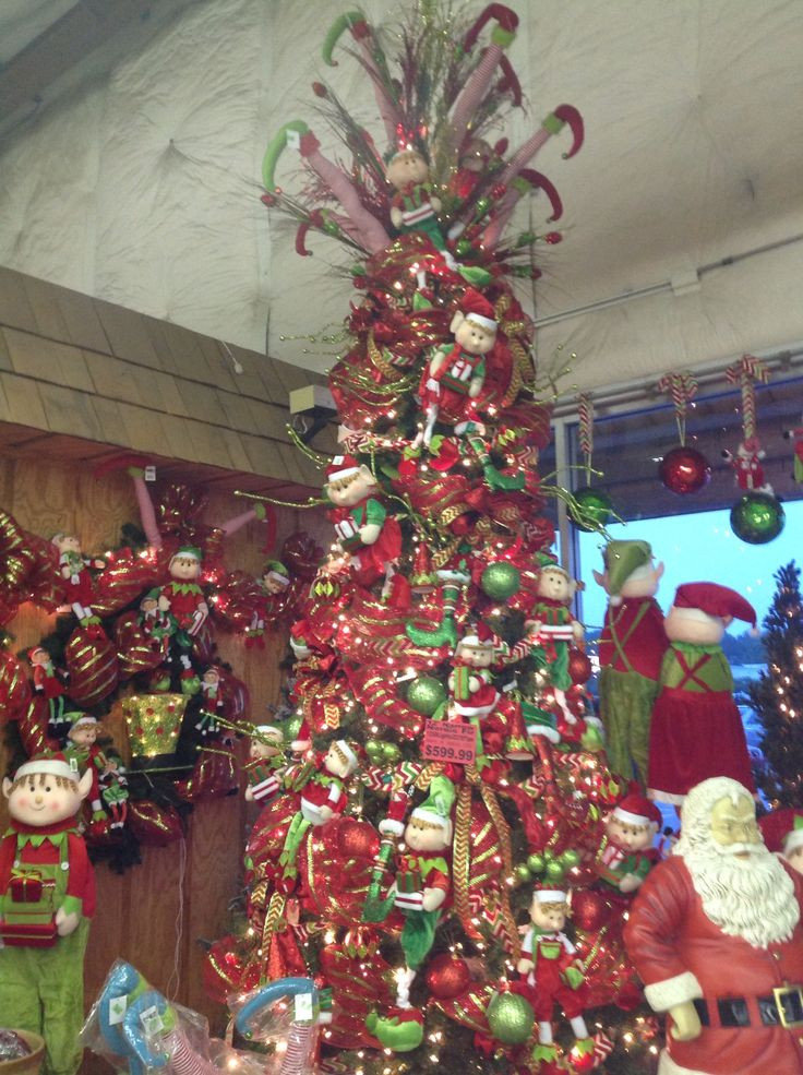 Elf Christmas tree Smithfield Floral Pinterest