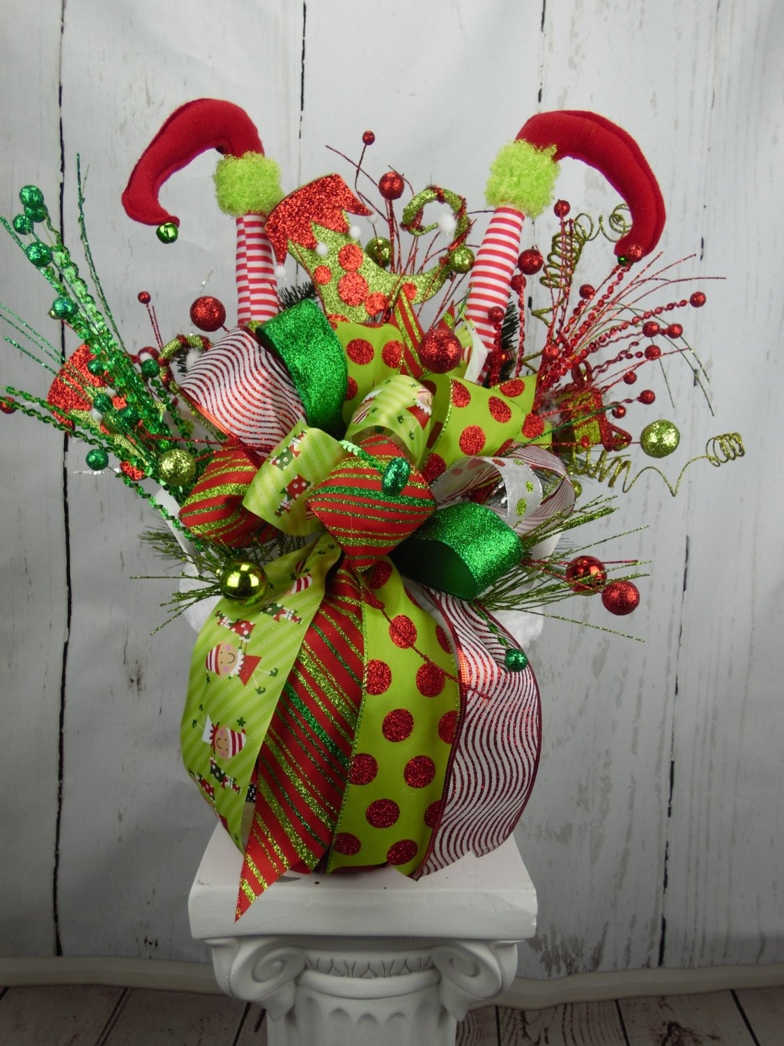Elf Christmas Decorations Unique Elf Centerpiece Christmas Centerpiece Holiday Centerpiece Of Brilliant 42 Images Elf Christmas Decorations