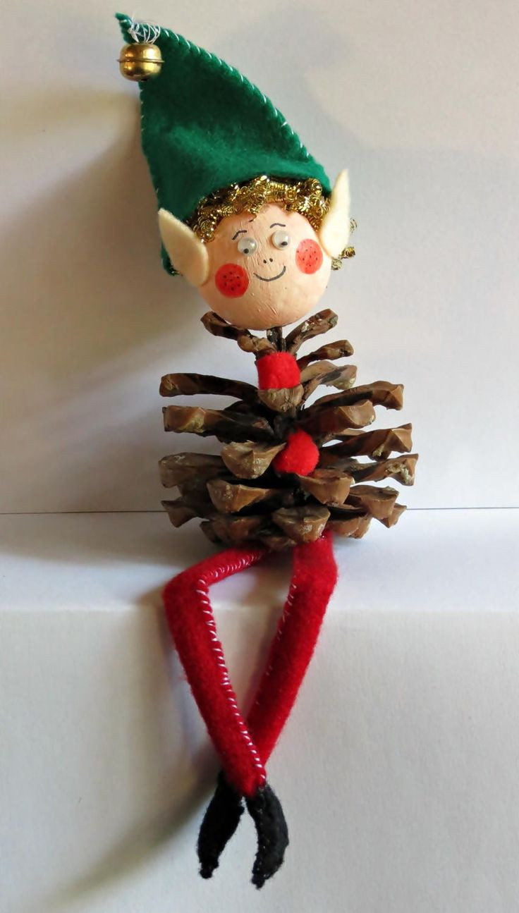 Elf Christmas ornaments Best Of 1000 Images About Pine Cone Decorations On Pinterest Of Top 47 Photos Elf Christmas ornaments