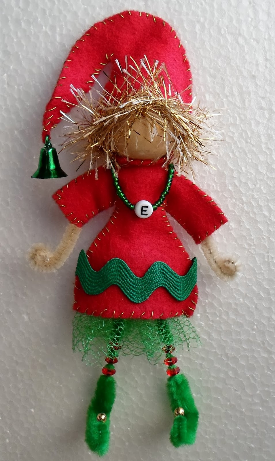 Elf Christmas ornaments Lovely Happier Than A Pig In Mud Craft Your Own Elf From A Bead Of Top 47 Photos Elf Christmas ornaments