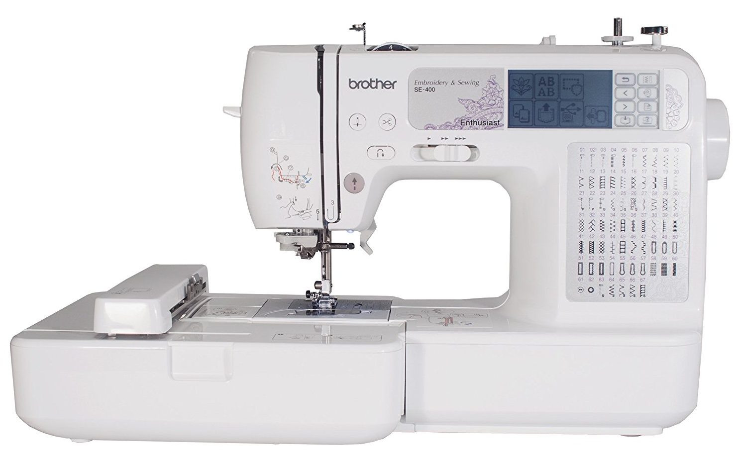 Embroidery Machine Inspirational Review Brother Se400 Bination Puterized Sewing and Of Innovative 43 Pictures Embroidery Machine