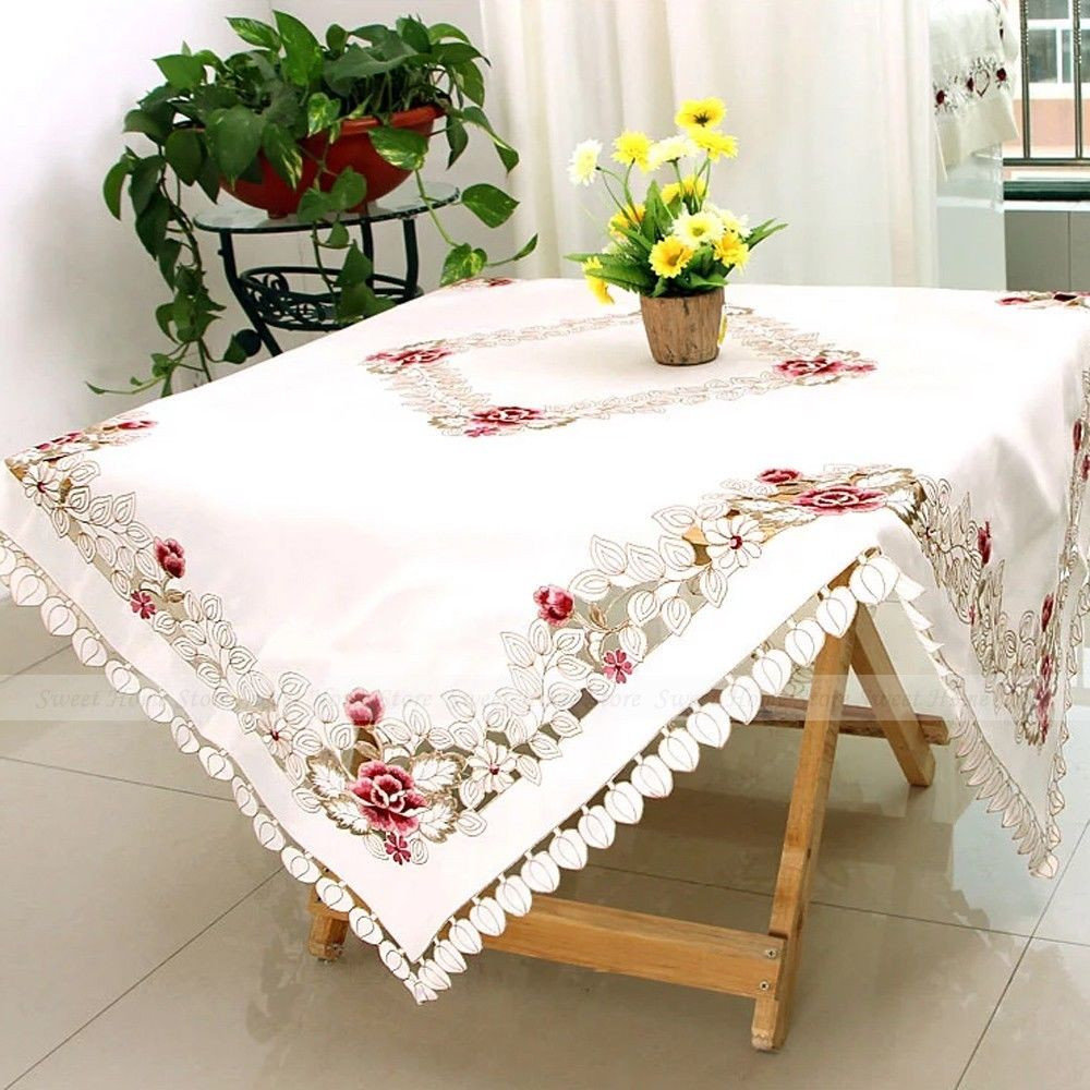 End Table Doilies Best Of Yazi Embroidery Rose Tablecloth Satin Fabric End Table Of Great 42 Images End Table Doilies