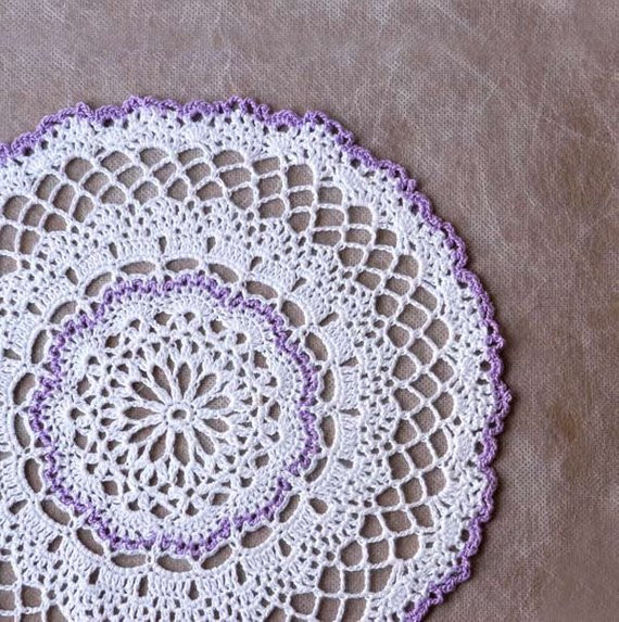 End Table Doilies Fresh Lilac and Lace Crochet Doily Home Decor Table by Nutmegcottage Of Great 42 Images End Table Doilies
