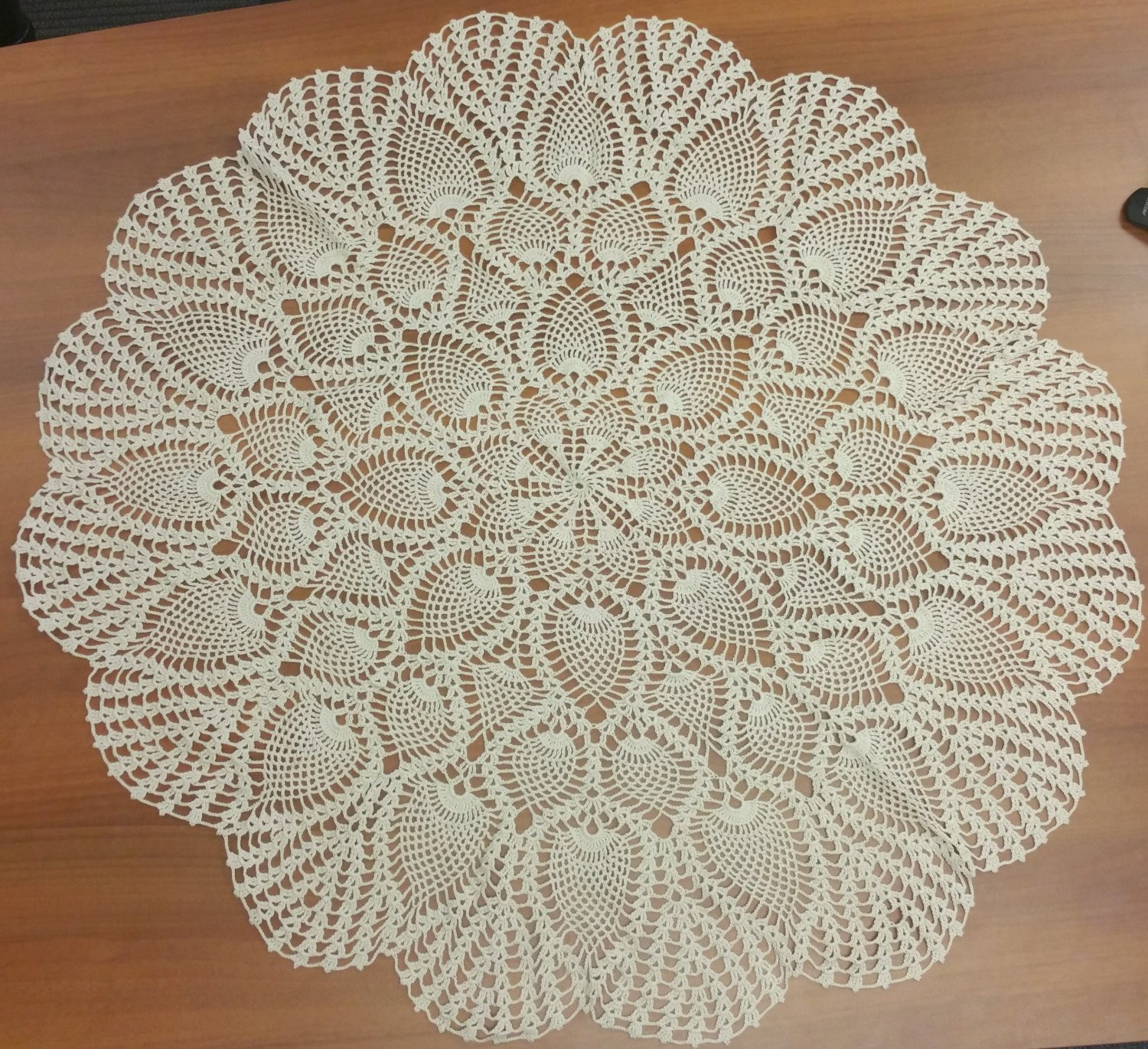 Coffee Table Doilies Rustic Coffee Table Doily Pineapple
