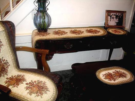 """End Table Doilies Lovely Elbaz Anika Red & Gold Brocade 14"""" Round Doily Belgium Of Great 42 Images End Table Doilies"""