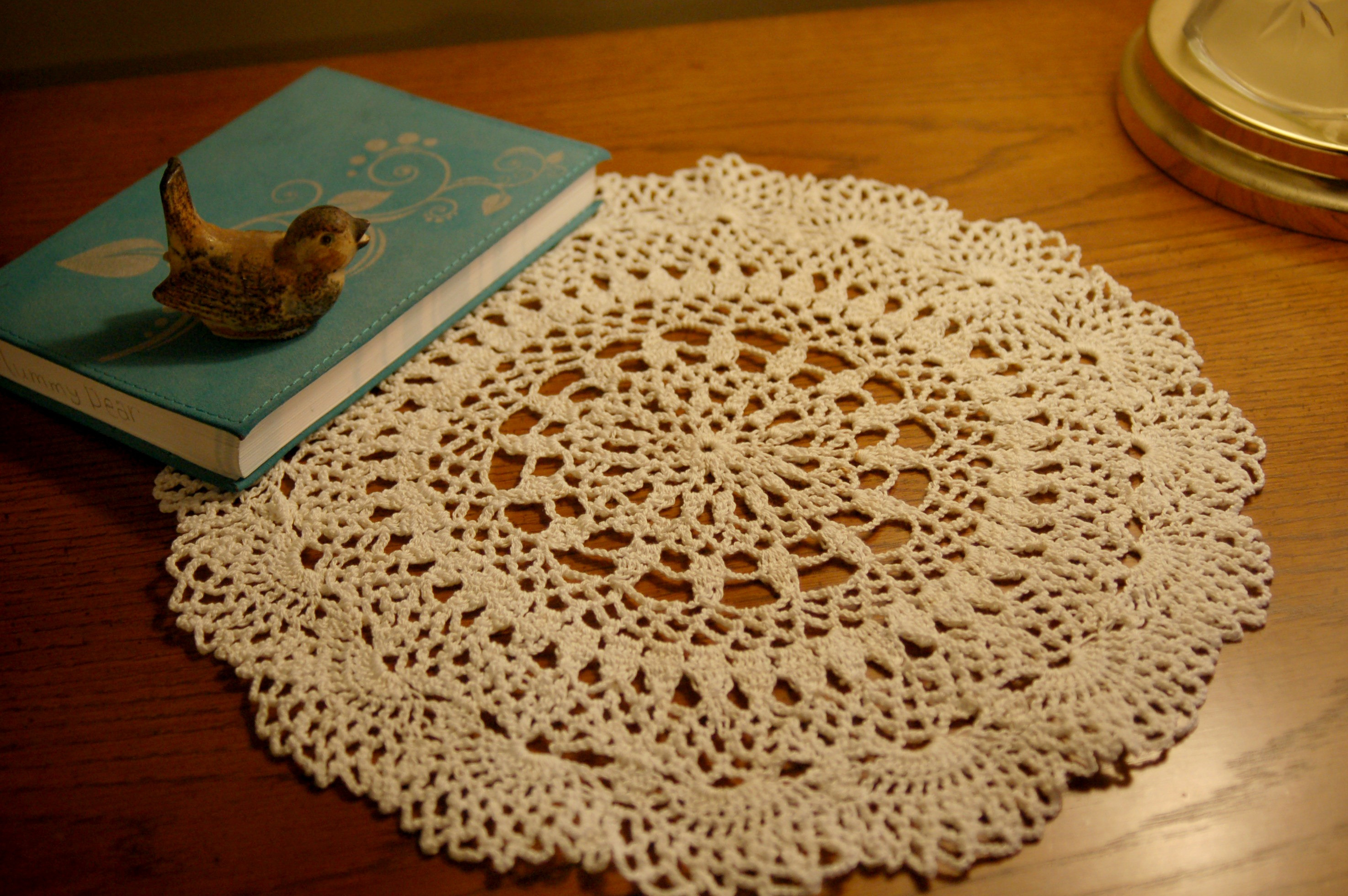 End Table Doilies Lovely Flowing Fountain Doily Of Great 42 Images End Table Doilies