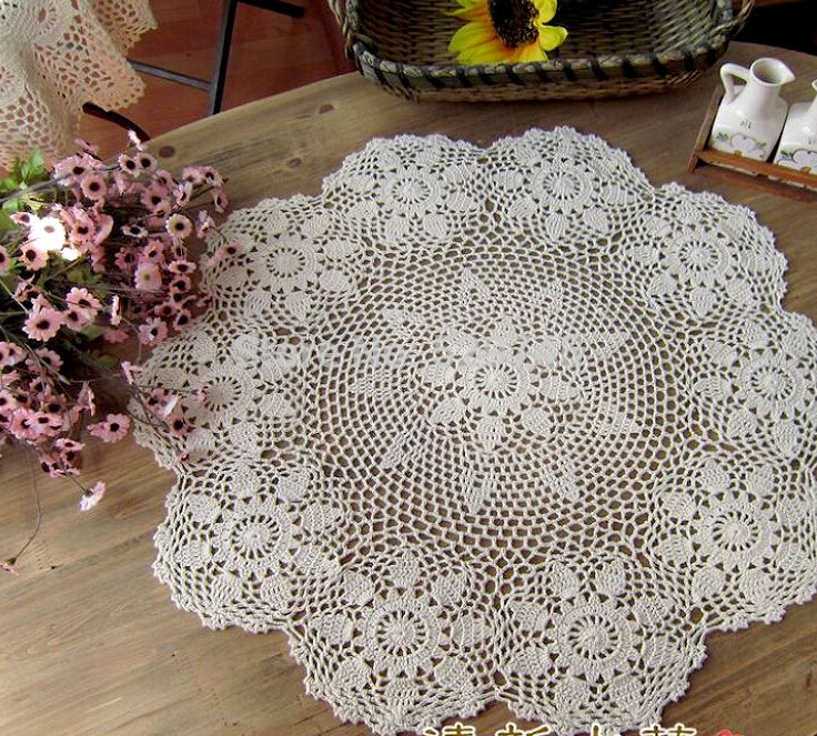 End Table Doilies Unique Handmade Crochet Flower Round Coffee Table Cloth Mat Of Great 42 Images End Table Doilies