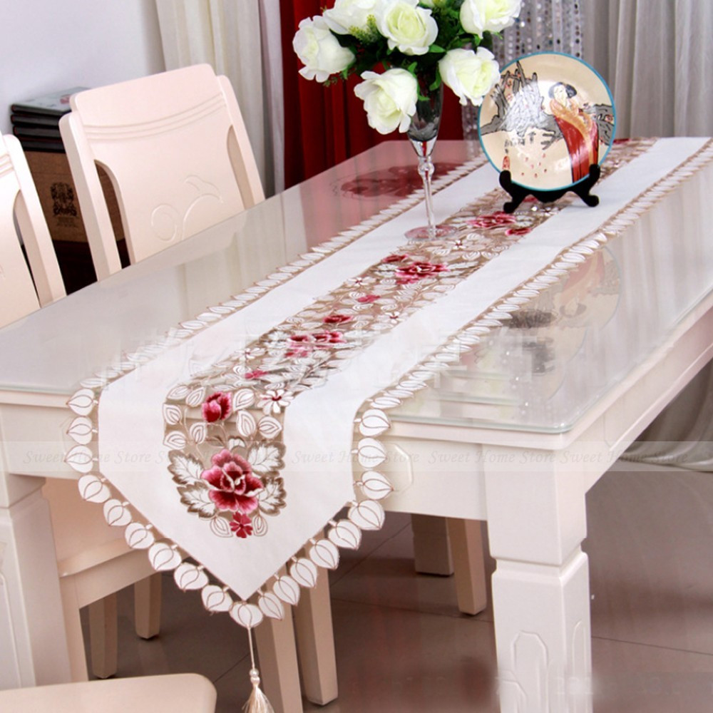 End Table Doilies Unique Yazi Embroidery Rose Tablecloth Satin Fabric End Table Of Great 42 Images End Table Doilies
