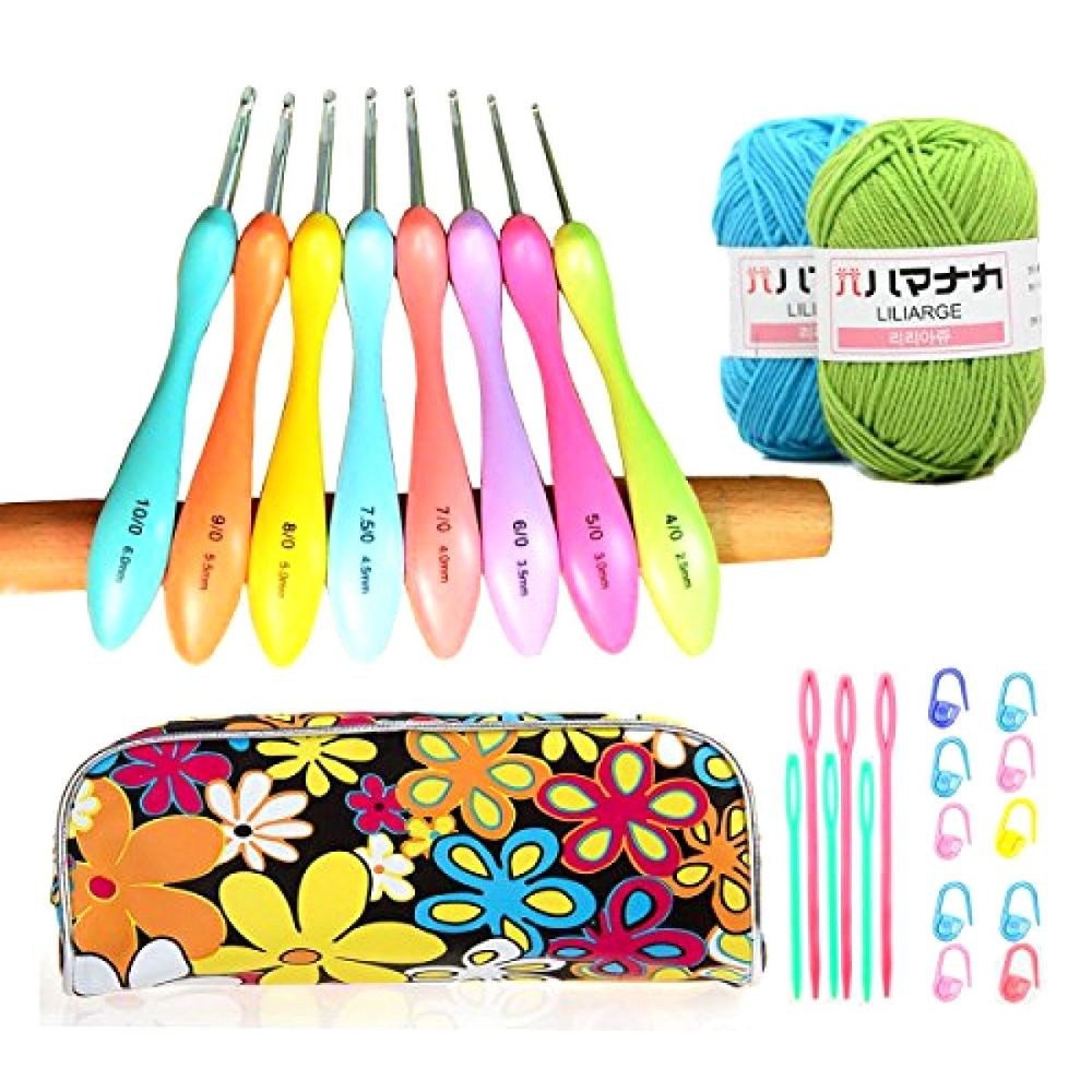 Ergonomic Crochet Hooks Set fort Grip Crochet Needles