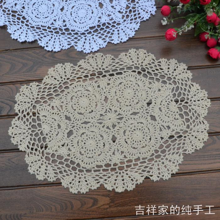 Fabric Doilies Awesome Free Shipping Oval Flowers Lace Felt Fabric Doilies as Pot Of Attractive 41 Pics Fabric Doilies