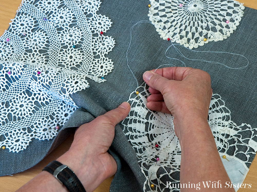 Fabric Doilies Awesome Vintage Lace Doily Pillow Running with Sisters Of Attractive 41 Pics Fabric Doilies