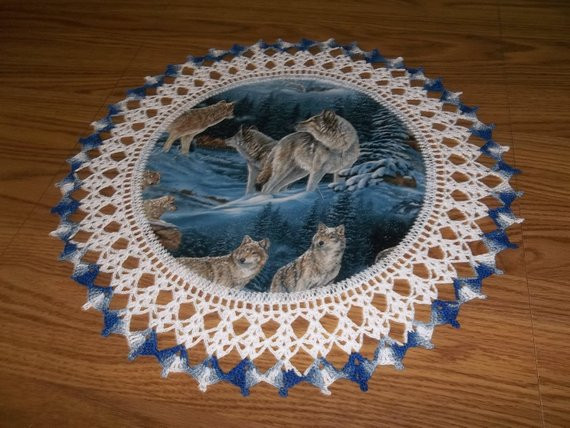 Fabric Doilies Beautiful Doilies Wolf Doily Fabric Center Crocheted Edge Handmade Of Attractive 41 Pics Fabric Doilies