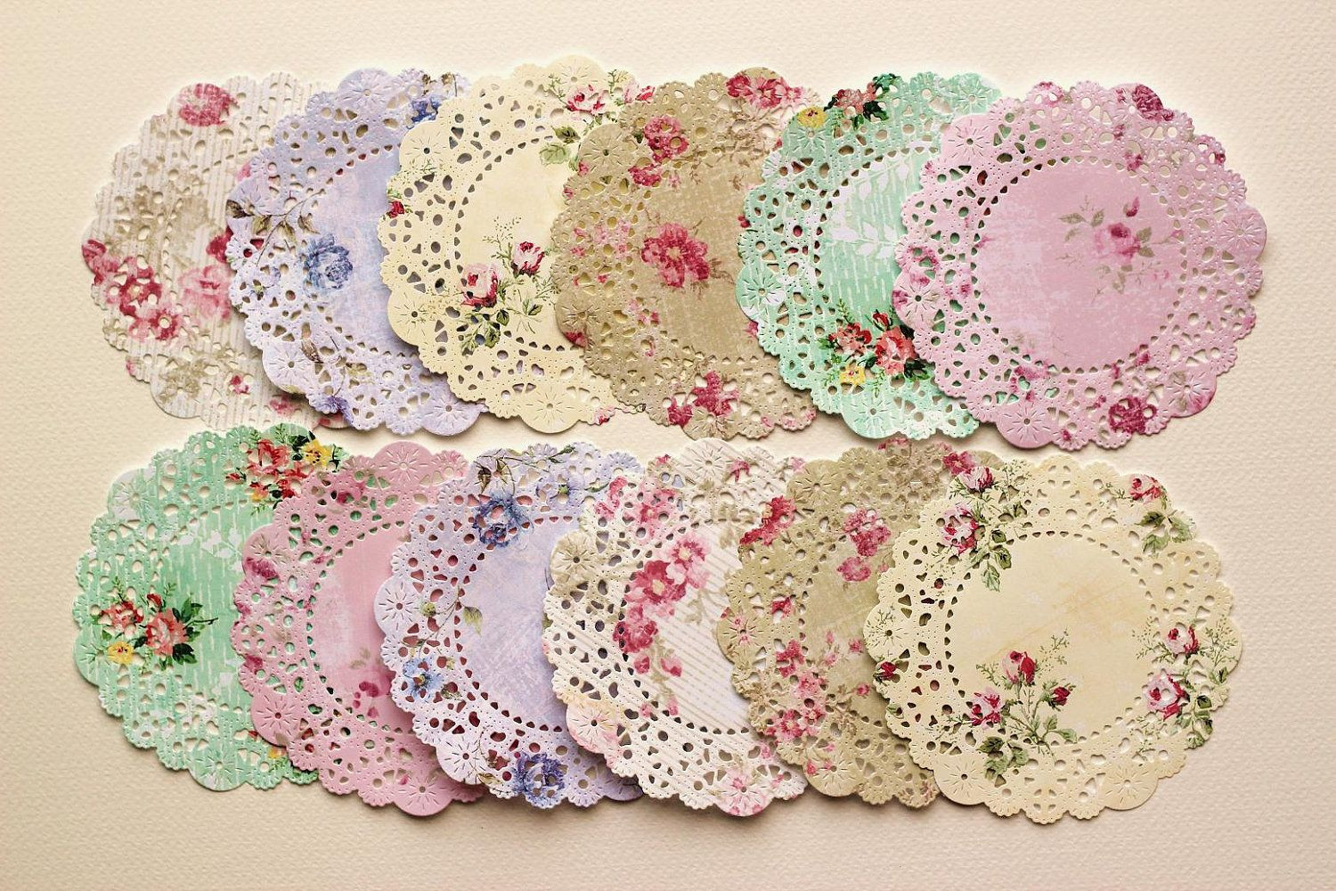 decorating with paper doilies doilies