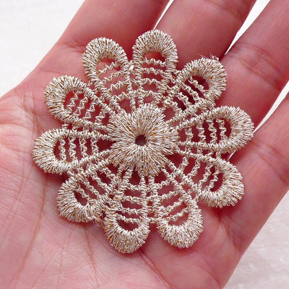 Fabric Doilies Inspirational Small Fabric Doilies Doily Applique 4pcs 52mm by Of Attractive 41 Pics Fabric Doilies