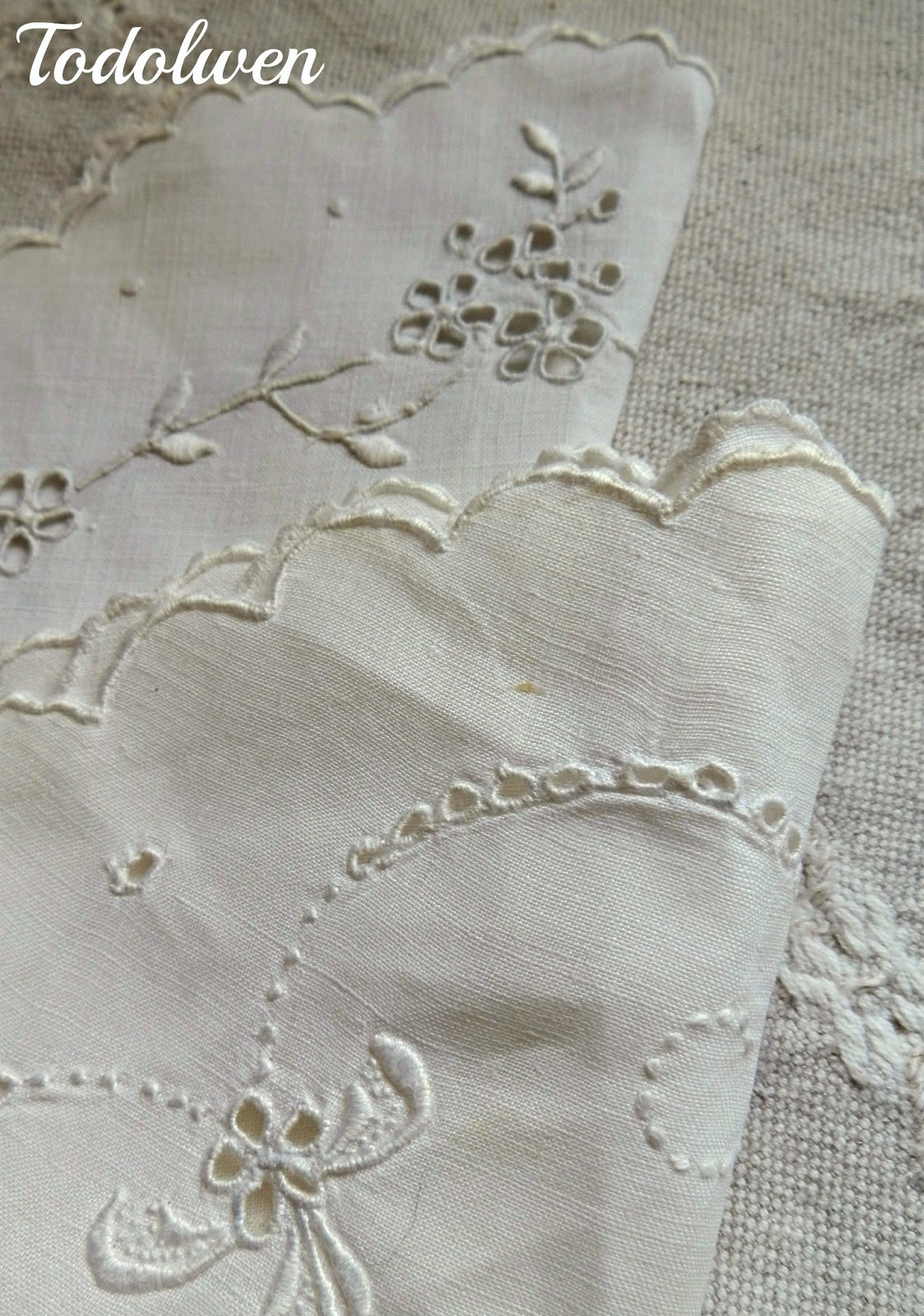 Todolwen Two Small Fabric Doilies