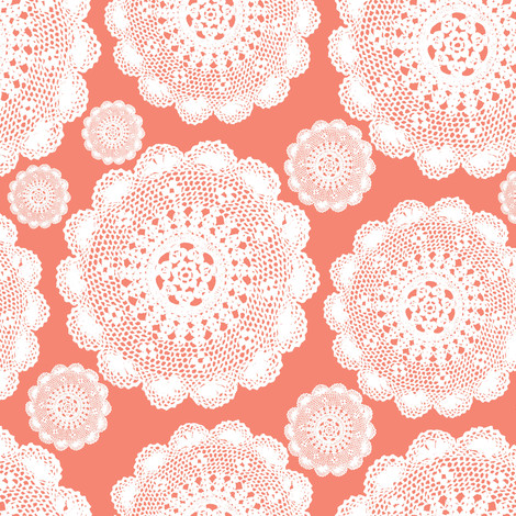 Fabric Doilies Luxury Coral Doilies Fabric Mainsail Studio Spoonflower Of Attractive 41 Pics Fabric Doilies
