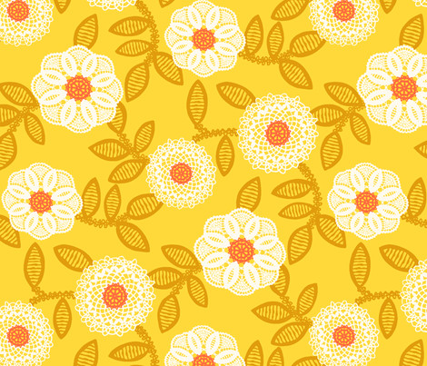 Fabric Doilies New Doilies Mustard Fabric Cheyanne Sammons Spoonflower Of Attractive 41 Pics Fabric Doilies