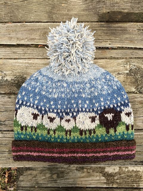 Fair isle knitting technique for the experts