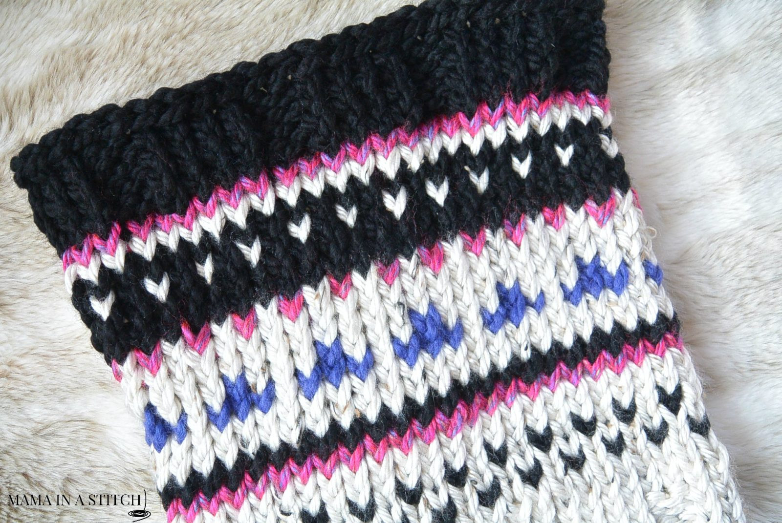 Fair isle Knitting Lovely Alpine Heights Knit Fair isle Cowl – Mama In A Stitch Of Adorable 42 Images Fair isle Knitting