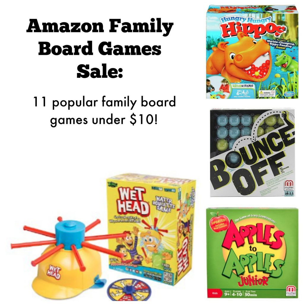 Amazon Family Board Games Sale