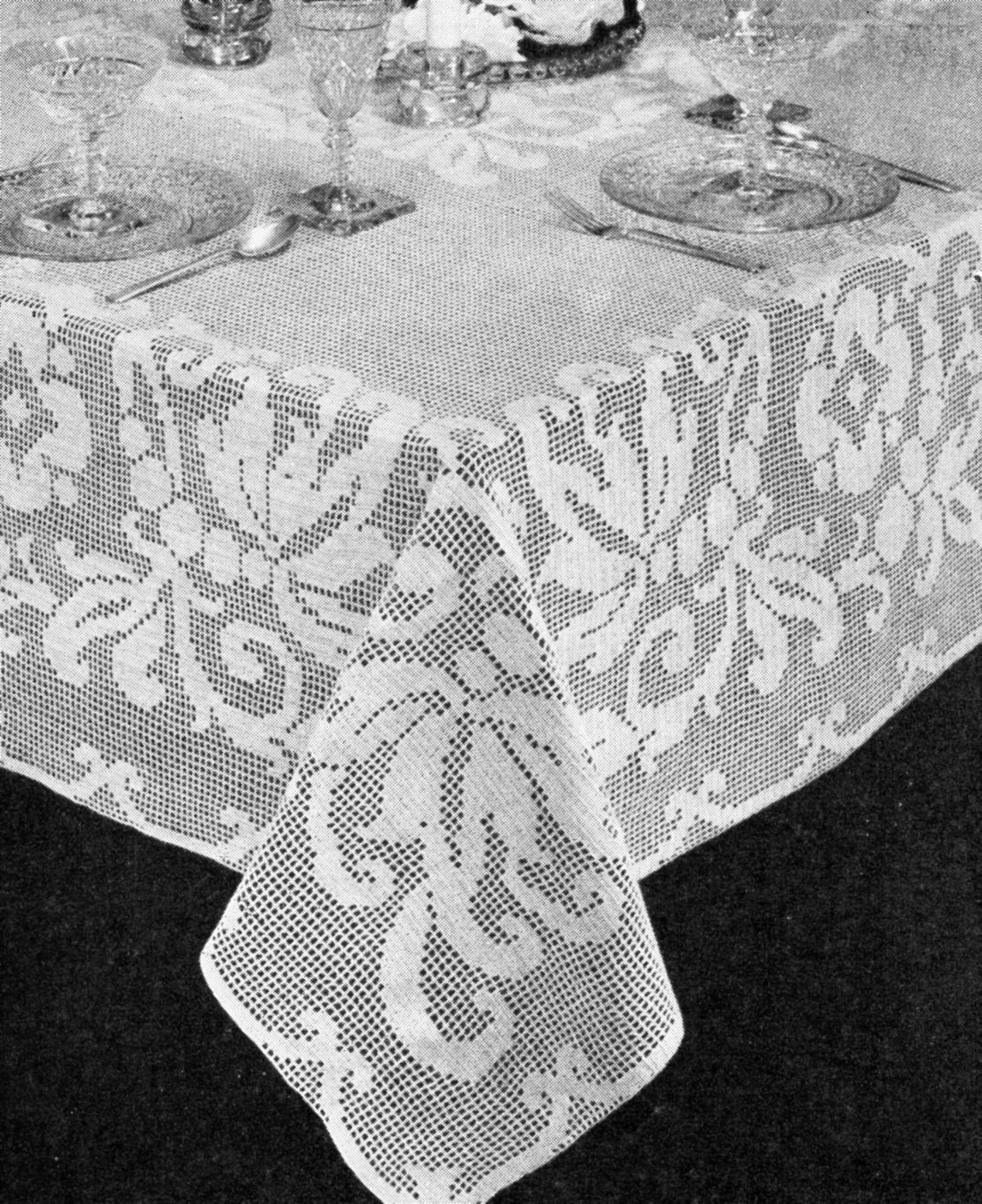free filet crochet pattern Archives Vintage Crafts and More
