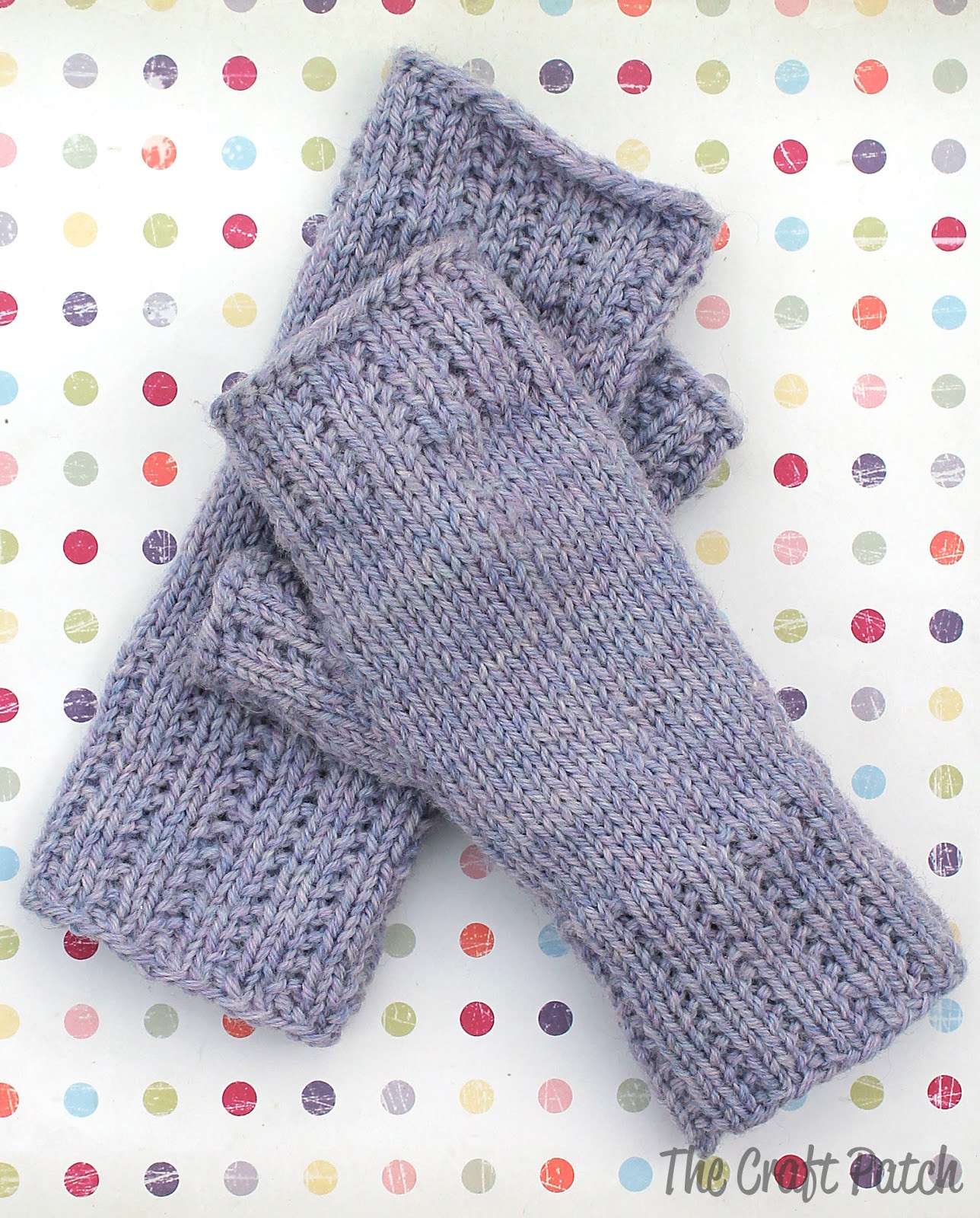 Learn To Knit Happy Hands Fingerless Mitts Free Pattern