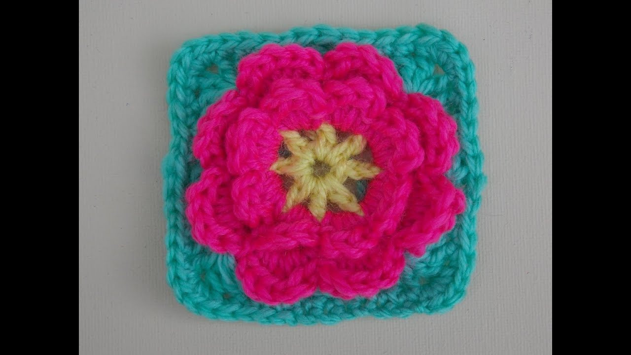 Flower Granny Square Awesome Flower Granny Square Crochet Tutorial Flower Can Be Made Of Wonderful 45 Pictures Flower Granny Square
