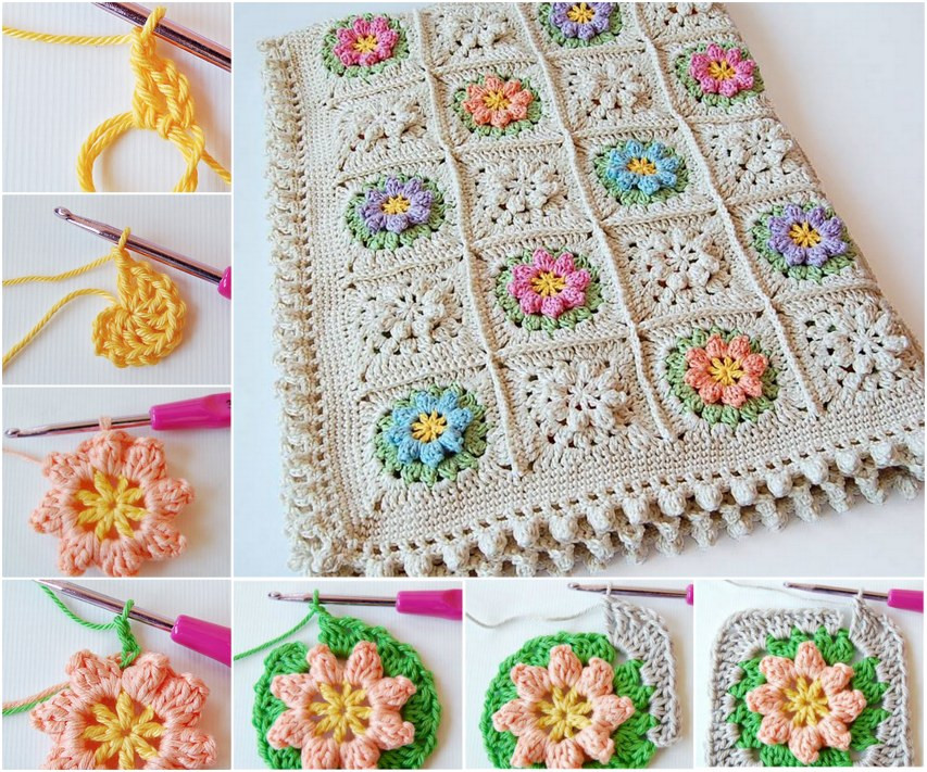 Flower Granny Square Best Of Wonderful Diy Crochet Flower Granny Squares Of Wonderful 45 Pictures Flower Granny Square